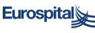 Eurospital logo footer mini blu su bianco